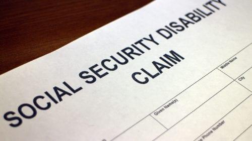 Social Security Disability Claim Stock Photo