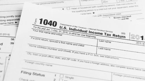 1040 Tax Forms Stock Photo