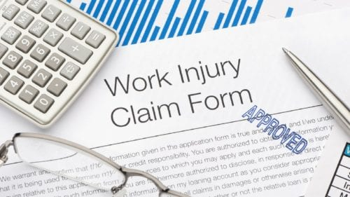 Approved Work Injury Claim Form Stock Photo